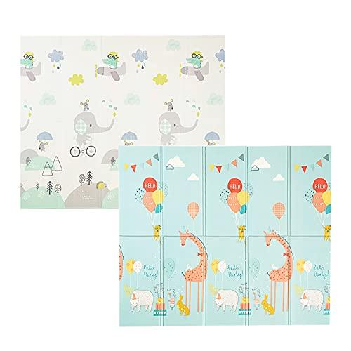 RUIHUAN Teppich Spielmatte Faltbare Spielzeug Kinder Teppich 1cm Dicke Krabbeln Kriechkissen Kinder Entwicklungsmatten für Toddler Spiele weich (Color : 2, Size : 200CMx180CMx1CM)