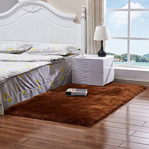 MENEFBS Superweicher Samt-Teppich, modern, flauschig, für den Innenbereich, niedlich, pelzig, Schlafzimmerteppich, Heimdekoration, Kinderteppich, Kindermatte, 40 x 60 cm