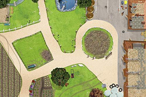 Bauernhof Spielmatte (ähnlich Spielteppich) | SM01 | Hochwertige Reiterhof Spiel-Matte für das Kinder-Zimmer | ideales Zubehör zu Spiel-Figuren von Schleich, Playmobil, Papo, Bullyland & Co | 150 x 100 cm | STIKKIPIX