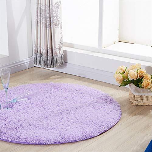 Flauschiger Teppich Ultra Soft Round Fluffy Vorleger for Mädchen Schlafzimmer Gleitschutz Shaggy Kinder Teppich Kinderzimmer Teppiche Nette Kinder-Spiel-Matte ( Color : Light purple , Size : 140cm )