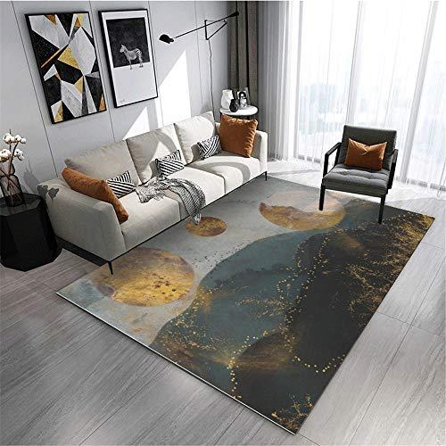 Teppich Zimmer Teppich Grau gelber Kunst Doodle Landschaftsdesign Moderne dekorative Teppich kinderteppiche mädchen kinderzimmer Teppich mädchen 120*170cm