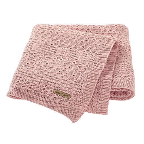 mimixiong Kinderwagen & Reise Extra weiche Baumwolle Cellular Babydecke (Rosa)